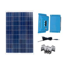 Kit Solar Panels 12V 100W Solar Charge Controller 10A 12v/24V PWM Z Bracket PV Cable  Car Charger Solar Battery For Phone Camp цена