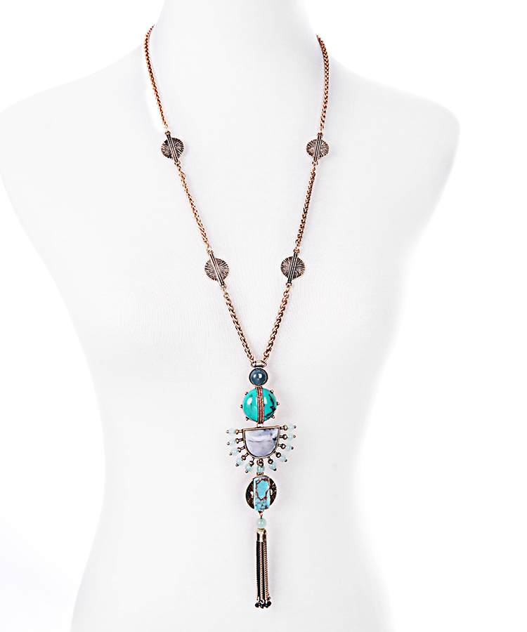 brand jewelry stella design totem tassel pendant necklace