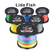 Lida fish marca 4 série 1000 m LB1.0-40.2 linha de peixe de cavalo forte pe tecido japão linha original importada