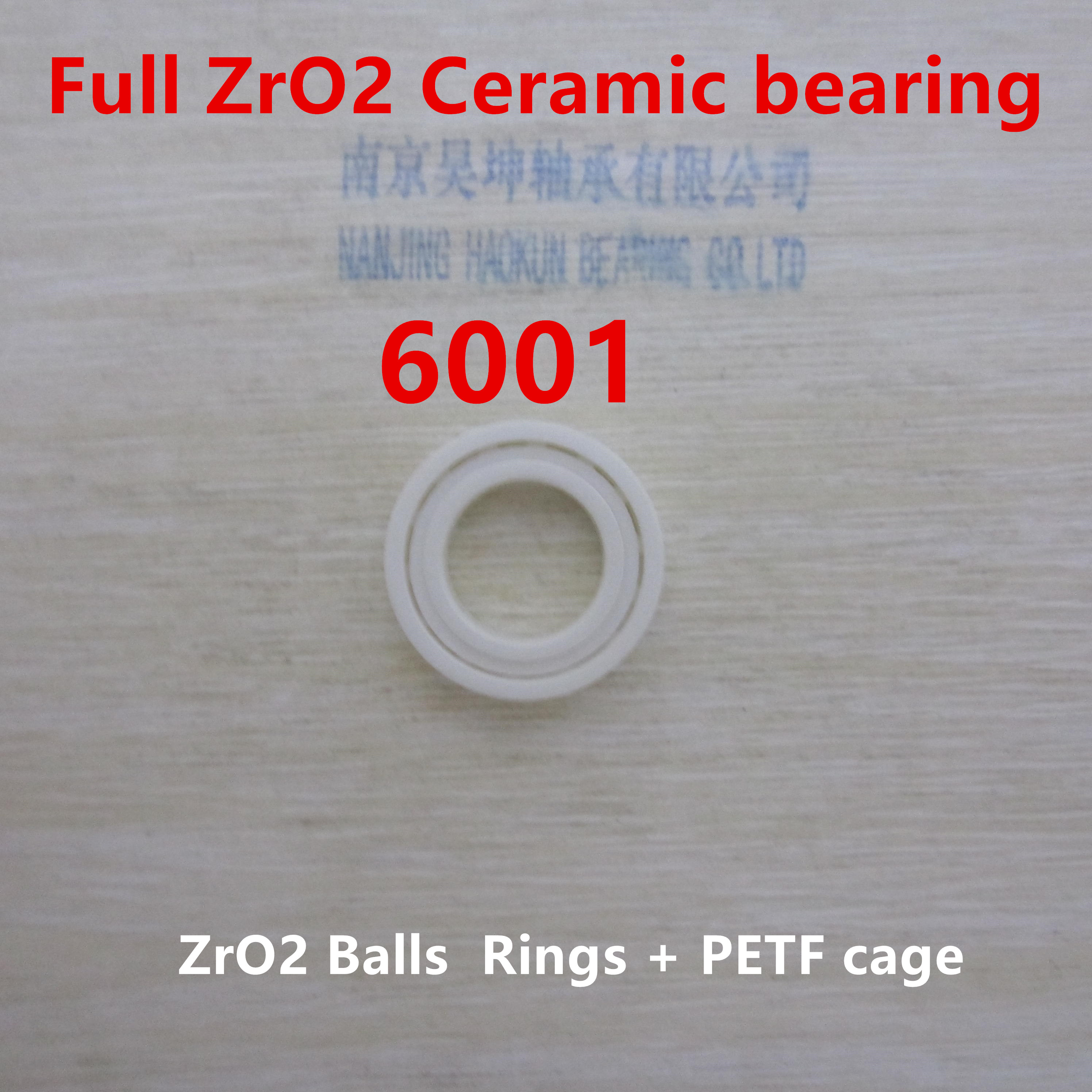 Ceramic bearing 6001 CE 12X28X8MM ceramic ball bearing zro2 dali rubicon vokal black