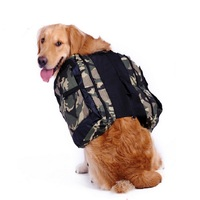 Soldier Print Outdoor Large Dog Carrier Backpack Saddle Bags Camouflage Big Dog Travel Carriers For Hiking