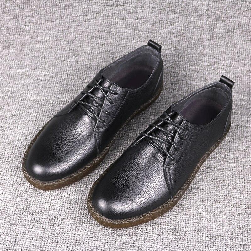 DESAI nowy Bullock buty męska koreańska wersja biznes buty w stylu casual prawdziwej skóry sznurowane buty w stylu Retro mężczyźni oksfordzie w Oxfordy od Buty na  Grupa 2