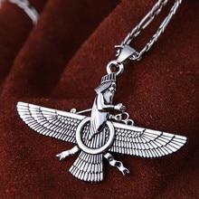 Pt Iranian Persian Farvahar Necklace Iran Persia Faravahar Gift