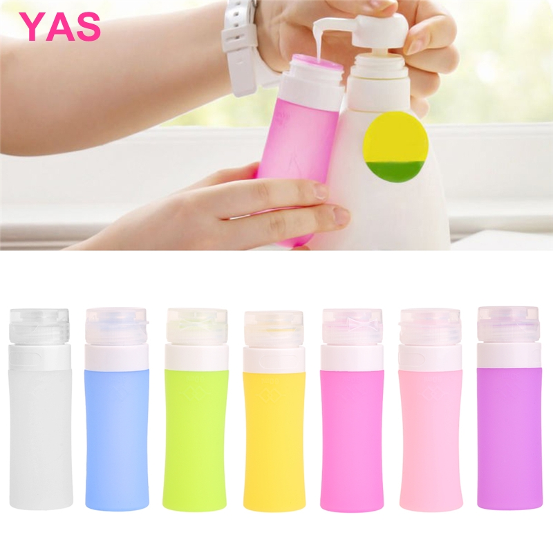 Travel Silicone Bottle Shampoo Shower Lotion Sub-bottling Tube Squeeze Container 60ML #Y207E# Hot Sale travel container set