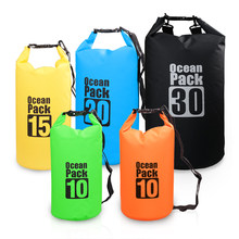 10L/15L/20L/30L Outdoor Waterproof Dry Backpack Water Floating Bag Roll Top Sack for Kayaking Rafting Boating River Trekking(China)