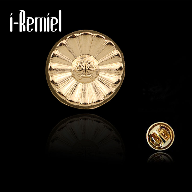Brooches For Special Offer Zinc Alloy Pin 2017 New Mens Shirt Small Collar Needle Round Fashion Buckle Personality Brooch Clip