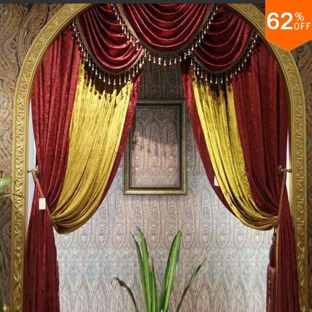 7 stars famous Dubai beuze sailing boat Hotel luxury velvet curtain ...