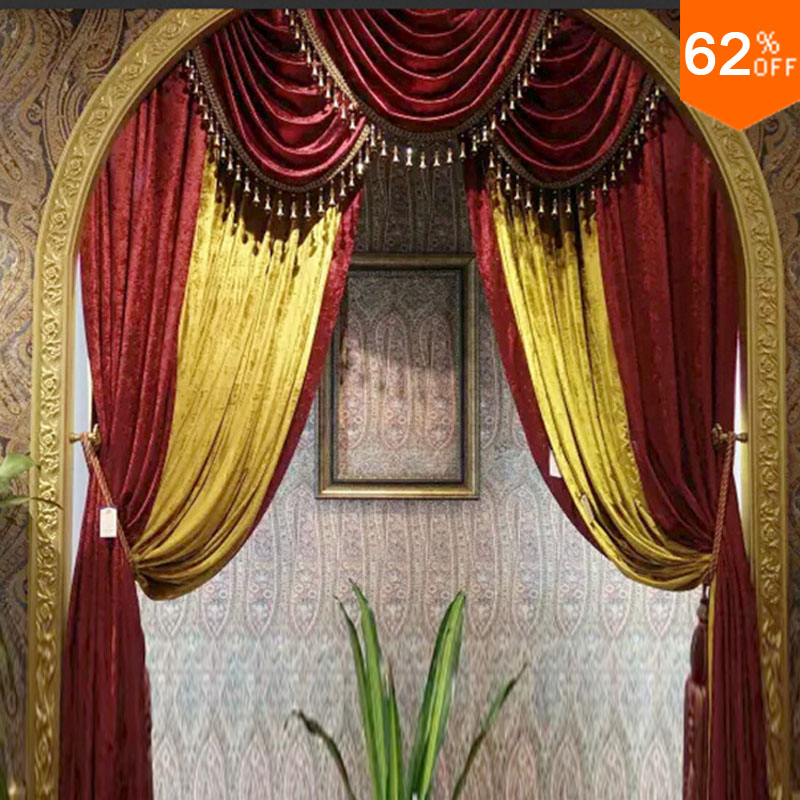 7 stars famous Dubai beuze sailing boat Hotel luxury velvet curtain for living room dinning Room holy London hotelKing Curtain