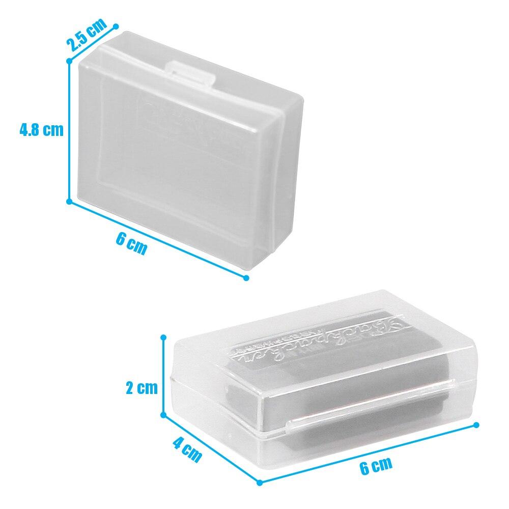 5pcs/Lot Translucence Plastic Case for DSLR Battery Canon LP-E8 LP-E6 LP-E5 BP-511A Nikon NB-10L EN-EL9 Sony CRV3 Pentax LI90 1500mah lp e5 lpe5 lp e5 li ion battery 2 pack