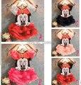 Фантазия Vestido Festa Infantil Meninas Disfraces Infantiles Девушки Минни Minie Мышь Одежда Платье Vestido Де Феста Infantil