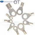 OT1-3 OT1-4, латунный медный наконечник, неизолированный Круглый круглый уплотнительный кольцевой провод, соединитель холодного отжима, обжимн...