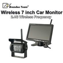 7 TFT LCD Car Rear View Backup Camera Kit Wireless Full HD Monitor Reversing Parking System