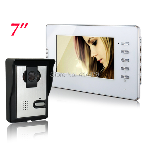 Wired 7 inch HD LCD Home Apartment Video Door Phone intercom Night Vision Home Security Doorphone Camera