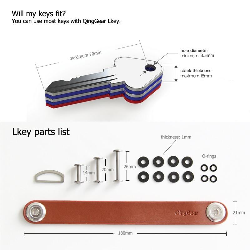 4 db / LOT kéziszerszám-készlet QingGear LKey kulcsszervező, - Szerszámkészletek - Fénykép 4