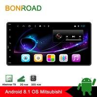 Bonroad 2din Android 8.1 Car Multimedia Player For Mitsubishi outlander 3 lancer asx 2012 14 GPS Navigation radio Player no dvd