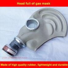 Gumowa czapka kominiarka maska chemiczna ochrona przed zanieczyszczeniami formaldehydu Respirator organiczny wkład 2w1 do malowane farbą w sprayu