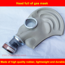 Rubber full Face Mask Chemical Mask Formaldehyde Pollution Protection Respirator Organic Cartridge 2in1 for Paint Spray Against