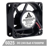 20pcs Gdstime Ball Gdstime 60mm 24V Brushless 2PINDC Cooler Fan 60x60x25mm 6025 6cm For Computer PC CPU Case Cooling