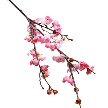 Artificial flowers plum blossom Chinese style Japanese cherry wedding home decor wall rose photography set fake