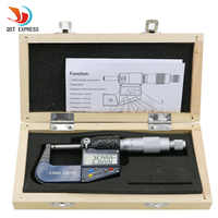 Digital Micrometer 0-25mm 0.001mm Metric/Inch Electronic Outside Micrometro Carbide Tip