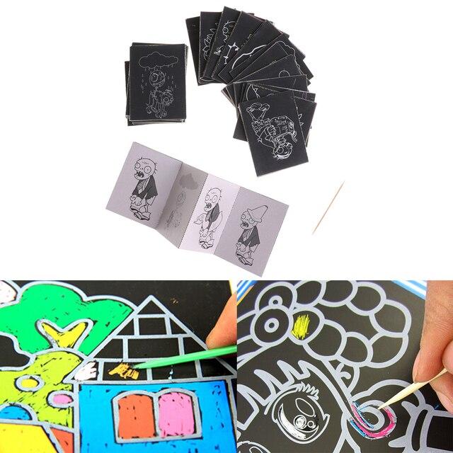 Pintura para niños Juego de pintura de papel rasguño colorido mágico ...