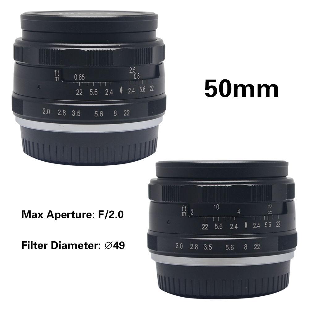 50mm F2.0 Aperture Manual Focus Lens APS-C for Fujifilm X-A1 X-A2 X-E1 X-E2 X-E2S X-M1 X-T1 X-T10 X- Pro1 X-Pro2 camera new 50mm f 1 8 aps c f1 8 camera lens for fujifilm x t10 x t2 x t1 x a3 x a2 x a1 x pro2 x pro1 x e2 x e1 x m1