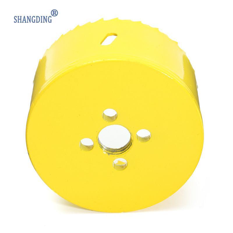 80 mm vysokorychlostní ocel M42, žlutá kovová dírová pila, - Vrták - Fotografie 5
