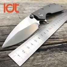Ldt marfione doc тактический складной нож d2 стеклоочистителя titanium ручка флиппер охота открытый ножи выживания кемпинг edc инструменты