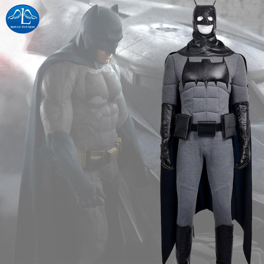 MANLUYUNXIAO Men's Batman Cosplay Costume Batman v Superman Deluxe Outfit Halloween Costume For Men Custom Made