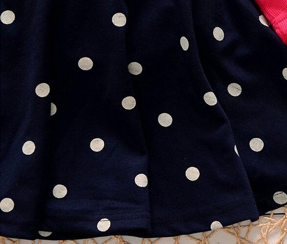 1dd6428cb Eco friendly flower children clothes dress corsage girl dresses kids  princess dress polka dot mock two pcs red baby dress-in Dresses from Mother  & Kids on ...