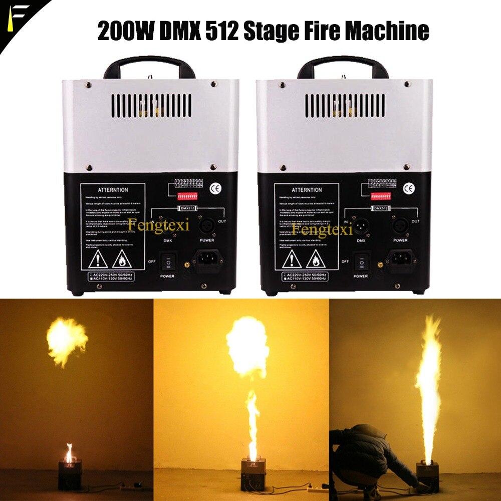 2unit * LOT Flamme Colonnes Tirer Dispositif DMX512 Flamme Boules Machine Réel Flash Feu Flamme Créateur Feu Materiel pour Disco