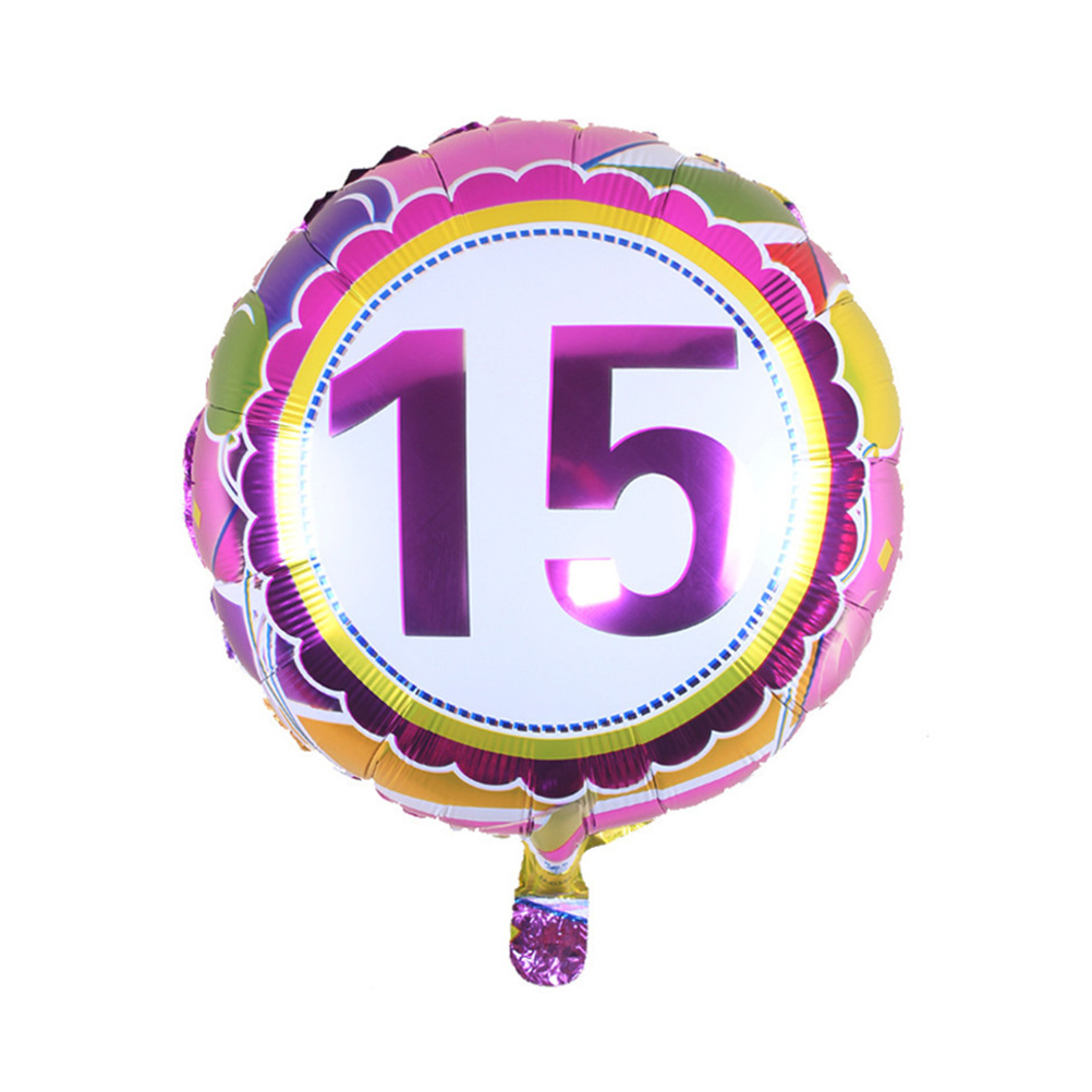Pollici numero 15 elio palloncini a foglio di compleanno for Numero di deputati e senatori