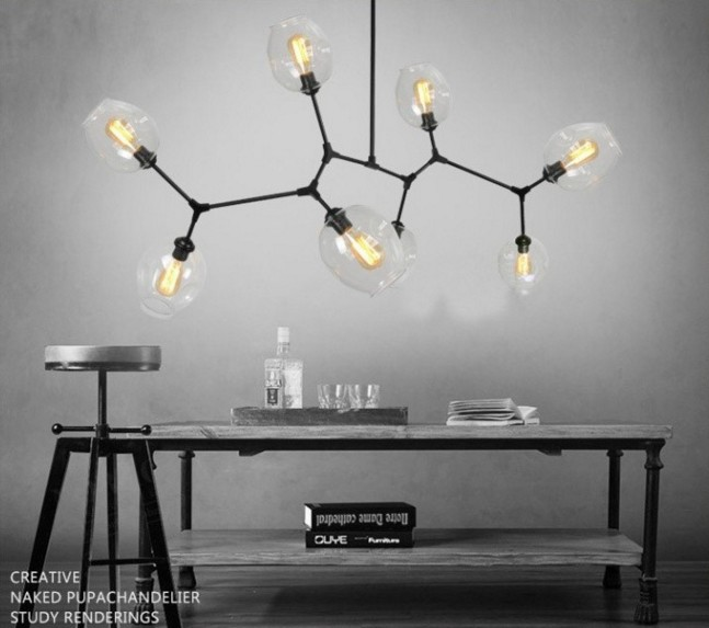 Replica Lindsey Adelman Lamp Globe Branching Bubble Chandelier Glass Ball Modern Pendant Fixture In Chandeliers From Lights Lighting On
