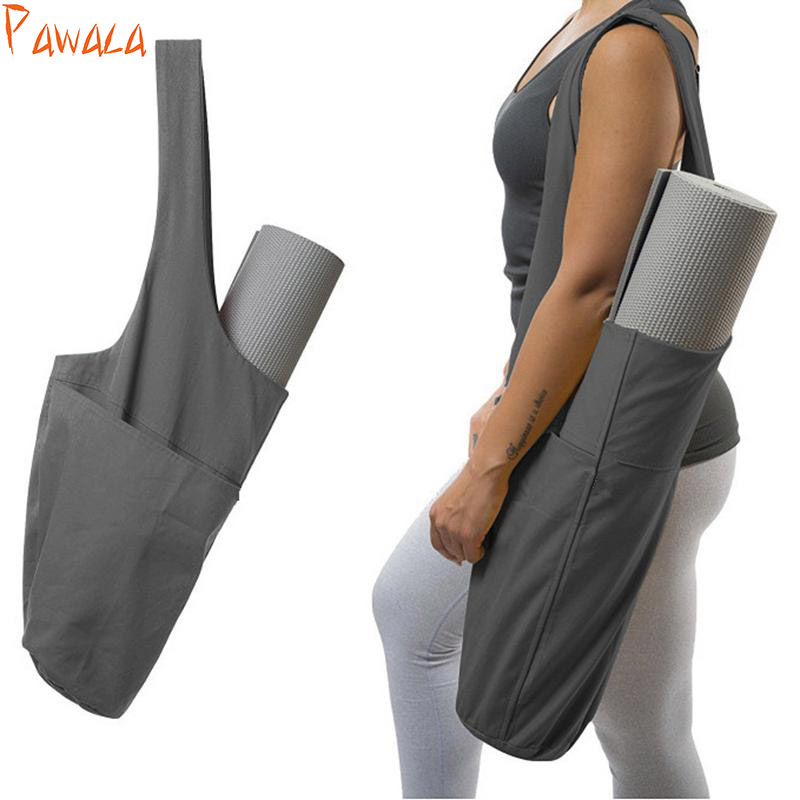 Large Yoga Backpack Yoga Mat Backpack Yoga Bag Waterproof Canvas 4 Carrier Pockets Sport Bags Yoga Accessories