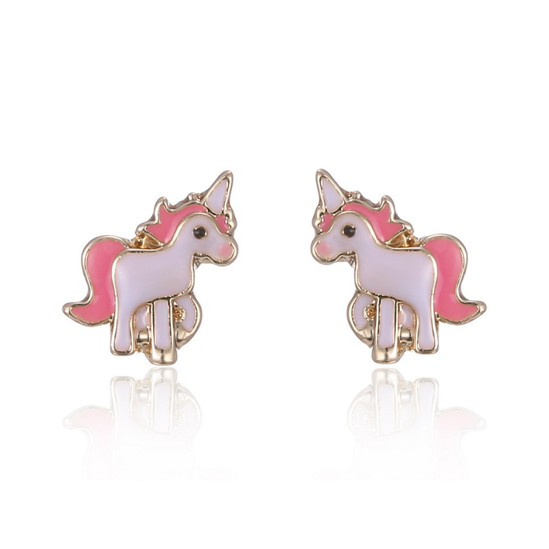 Hot Pink Animal Jewelry Set Chain Kids Cartoon Horse Necklace Earring Sets For S Best Gifts In From