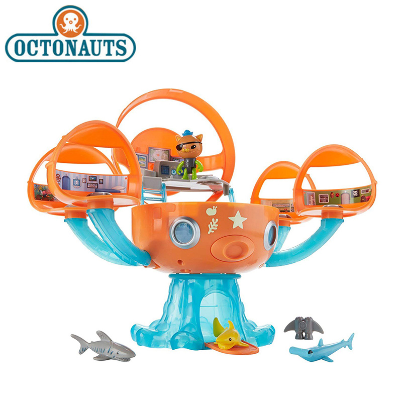 Original Octonauts Octopod Shark Adventure Playset Action Figure Toy Barnacels Kwazii Peso Dashi Inkling Model Toys for Children цена 2017