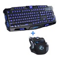 Red/Purple/Blue Backlight LED Pro Gaming Keyboard M200 USB Wired Powered Full N-Key 7 Buttons 5500 DPI Mouse Computer Peripheral
