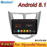 Bosion Android 8.1 Car Multimedia Player Car DVD For Hyundai Solaris Verna Accent 2010 2018 Car GPS Radio Video Navigation
