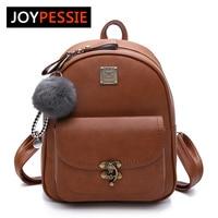 JOYPESSIE Women Backpacks Fashion PU Leather Shoulder Bag Small Backpack School Bags For Teenager Girl Bag