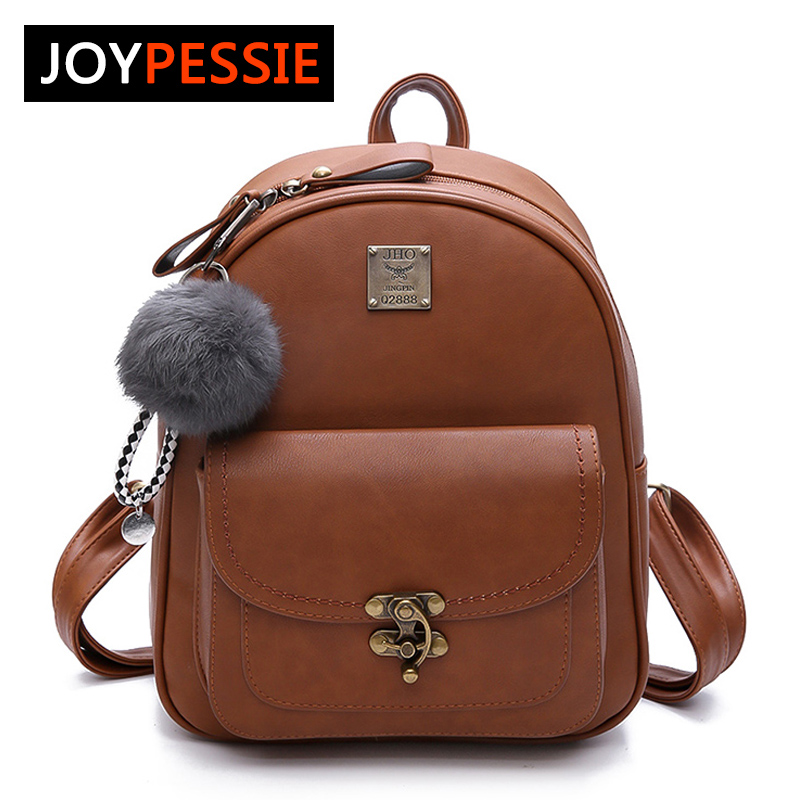 JOYPESSIE Women backpacks fashion PU leather shoulder bag small backpack School Bags for teenager girl bag FD1281 women backpacks fashion pu leather shoulder bag small backpack women embroidery dragonfly floral school bags for girls