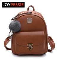 JOYPESSIE Women Backpacks Fashion PU Leather Shoulder Bag Small Backpack School Bags For Teenager Girl Bag