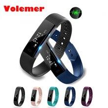 Volemer Smart Band ID115 HR Bluetooth браслет монитор сердечного ритма фитнес-трекер Шагомер ID115 смарт-браслет для телефона