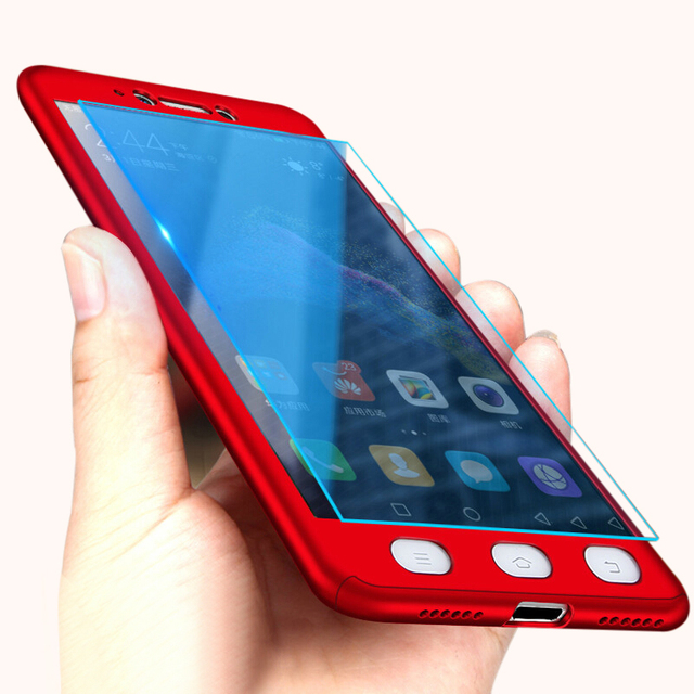 Luxury 360 Full Cover Phone Case For Xiaomi Redmi Note 5 5A Screen Protector Cover For Xiaomi Redmi 4X 4A Note 5 Plus Case Glass