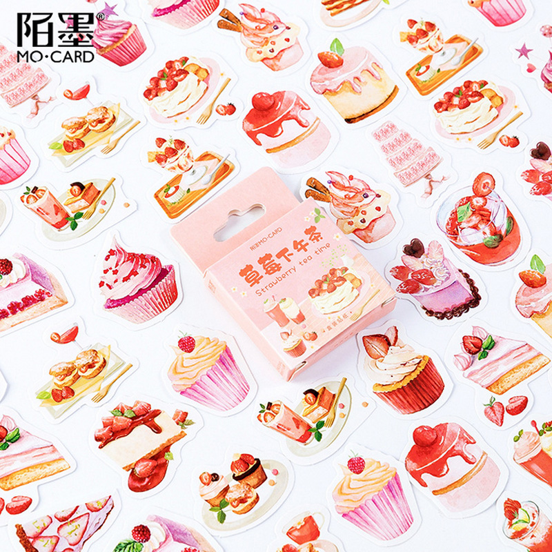 45 Pcs/lot Dessert Strawberry Cake Paper Sticker Package DIY Diary Decoration Sticker Album Scrapbooking