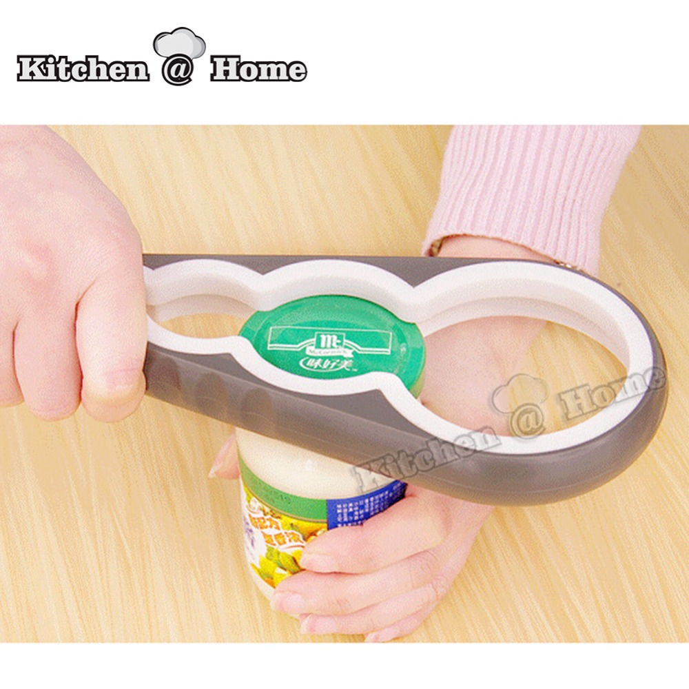 4 in 1 Jar Lid Can Opener Handle Handy Rubber Grip Container Screw Cap Jar Bottle Open Kitchen Accessories K147