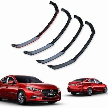 Para Mazda Axela 3 sedan sedan 2014-2017 Aparência de plástico ABS três-seção estilo pá frente decoração auto partes