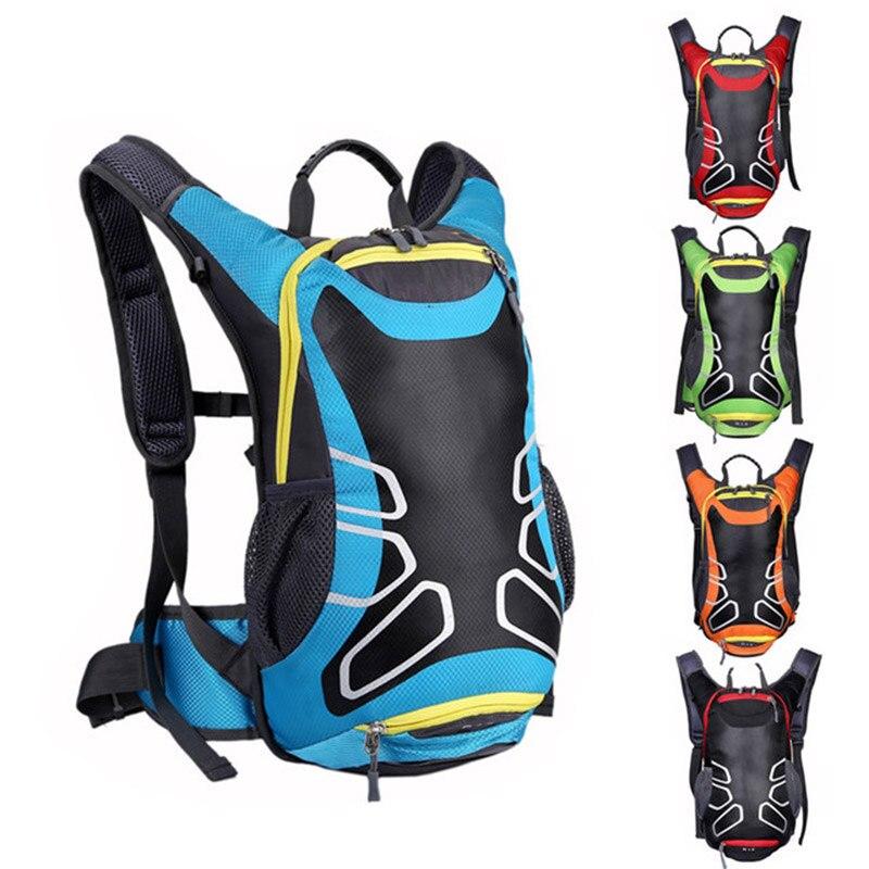 Waterproof Bicycle Backpack 15L MTB Mountain Bike Water Bag Nylon Cycling Hiking Camping Running Hydration Men's Women Backpack