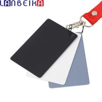 17.5x12 cm Nieuwe Grote 3 in1 Digital Grey Card Wit Zwart Grijs Witbalans met Riem Voor 350d 450d 650d d90 d3100 d5100-in Accessoires voor fotostudio's van Consumentenelektronica op