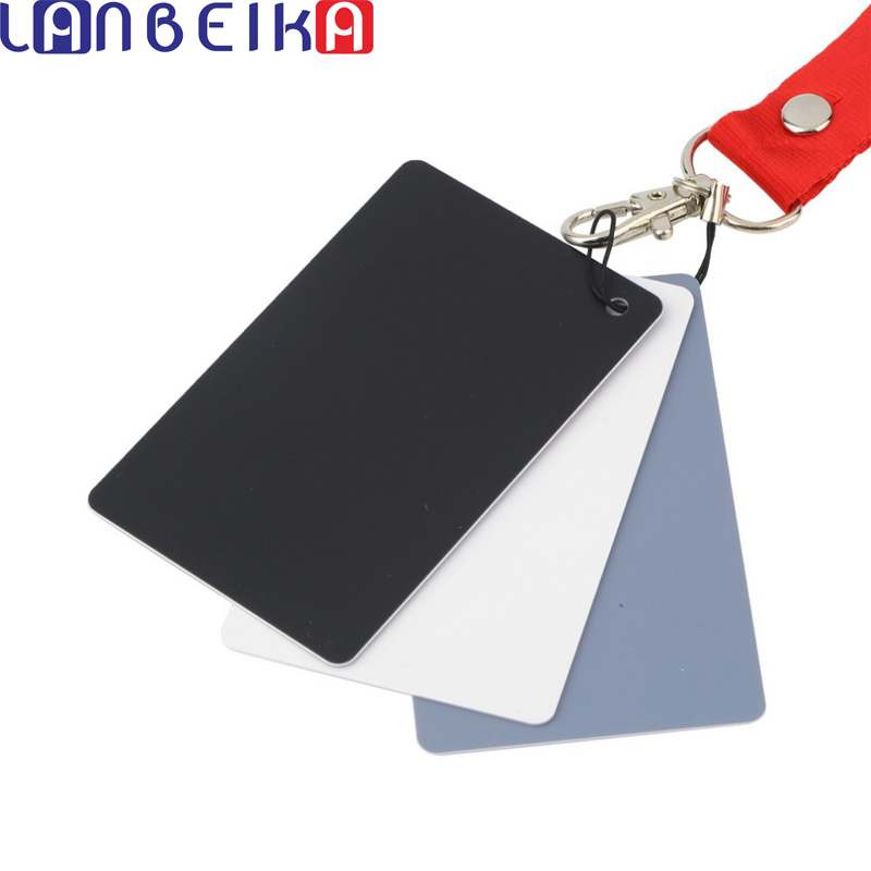 17.5x12cm New Large 3 in1 Digital Grey Card White Black Gray Color White Balance with Strap For 350d 450d 650d d90 d3100 d5100 цена