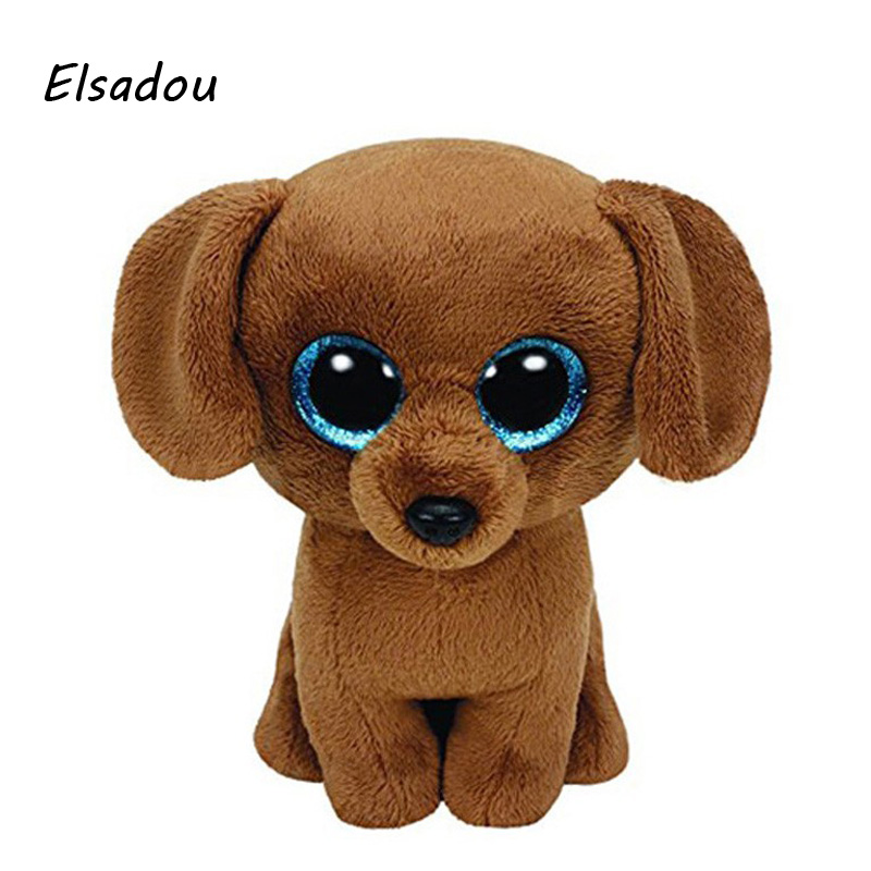Elsadou Ty Beanie Boos Stuffed Plush Animals Yellow Dog Doll font b Toys b font For